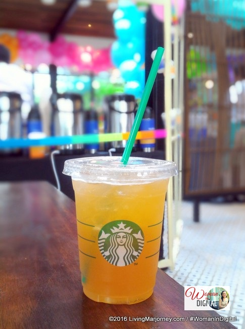 Iced Shaken Black Tea with Ruby Grapefruit and Honey