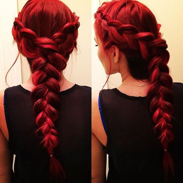 Red Braided Hairstyles The Haircut Web