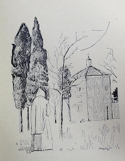 Il·lustració de la poesia: Si vingués el silenci / Il.: Julià Grau i Santos ; Llibre: Maria Castanyer: Retrobar-me en la terra, 1958, per Teresa Grau Ros