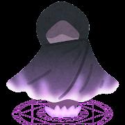 魔法陣で召喚された人のイラスト