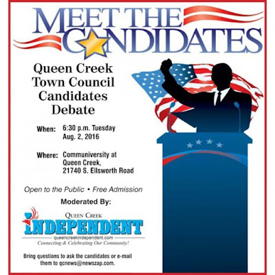 Poster for Candidate Forum.  see text below.