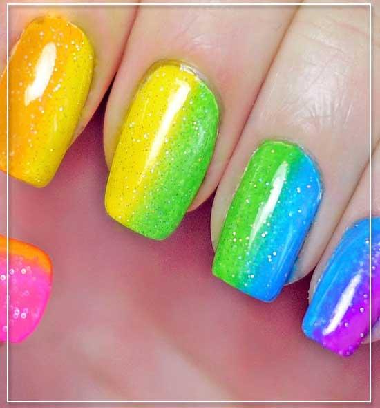 Sponge Gradient Nail Designs