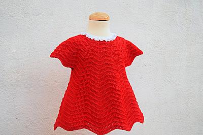 2 - Crochet Imagen Vestido rojo navideño en conjunto con capa por Majovel Crochet