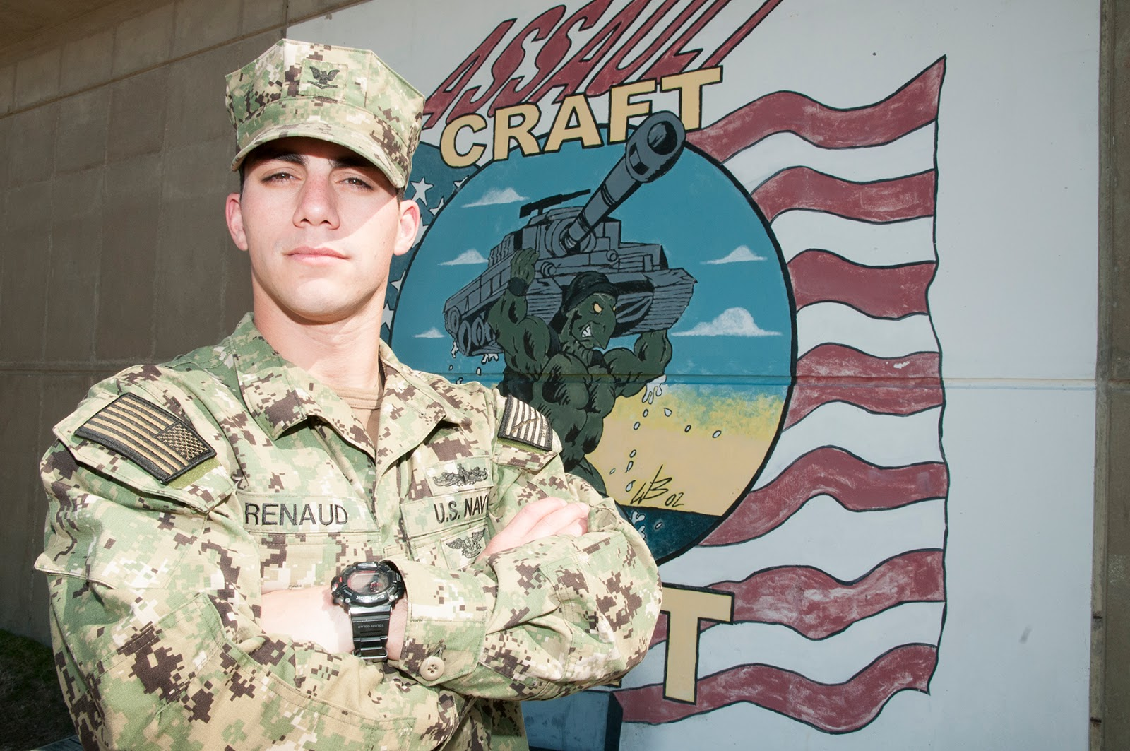 cypress texas native serves with naval beach group two