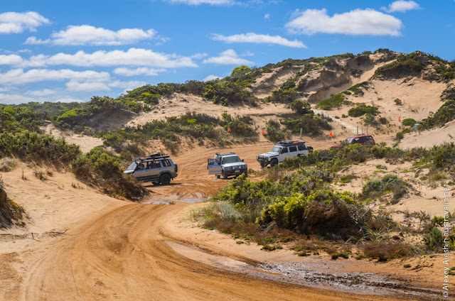 Another group of serious off-road rigs in Little Dip Conservation Park