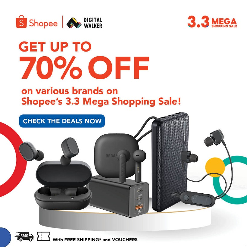 Snag exciting deals from Digital Walker in Shopee's 3.3 Mega Shopping Sale