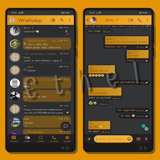 Yellow Ad Theme For YOWhatsApp & MN WhatsApp By Ethel