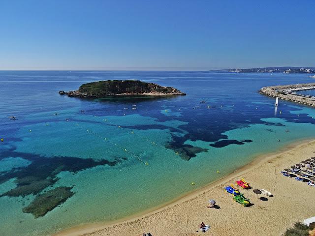 plaża na Portal Nous, Majorka, Hiszpania, Baleary