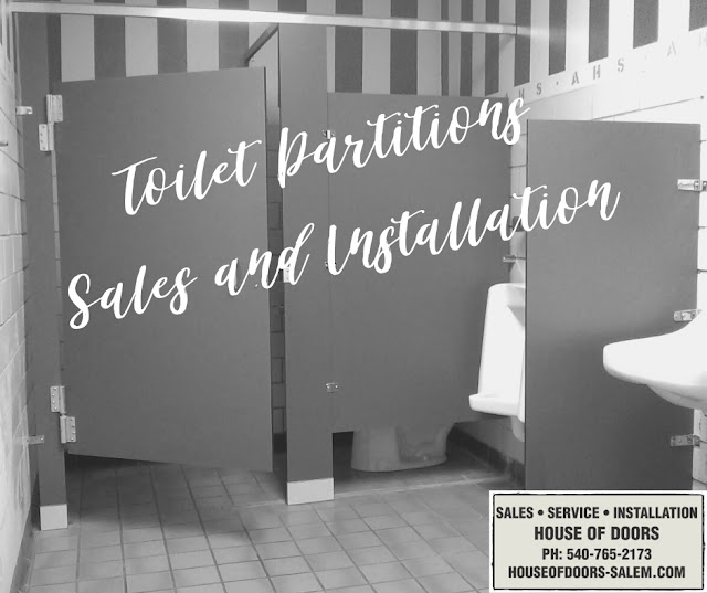 toilet partitions sales and installation House of Doors roanoke VA