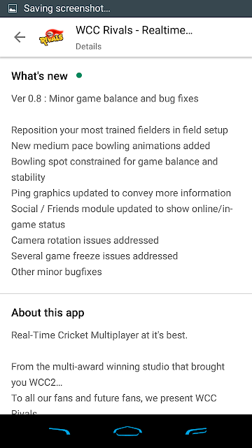 WCC Rivals 0.8 Features