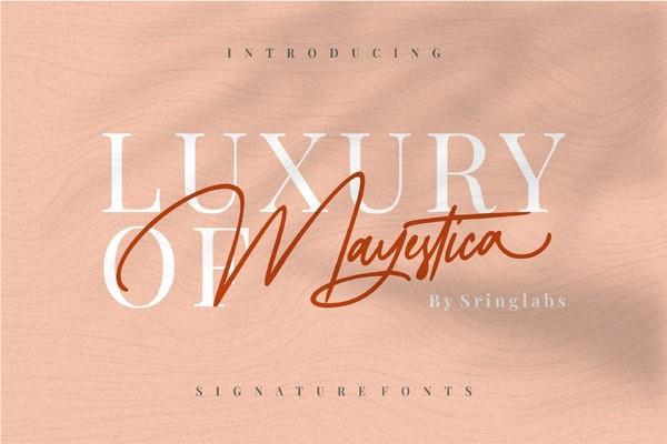 Mayestica Luxury Signature Font