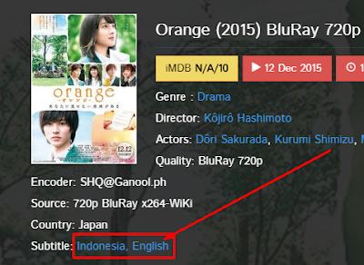 Cara Download Subtitle FILM di Ganool 11