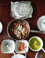fajitas with guacamole