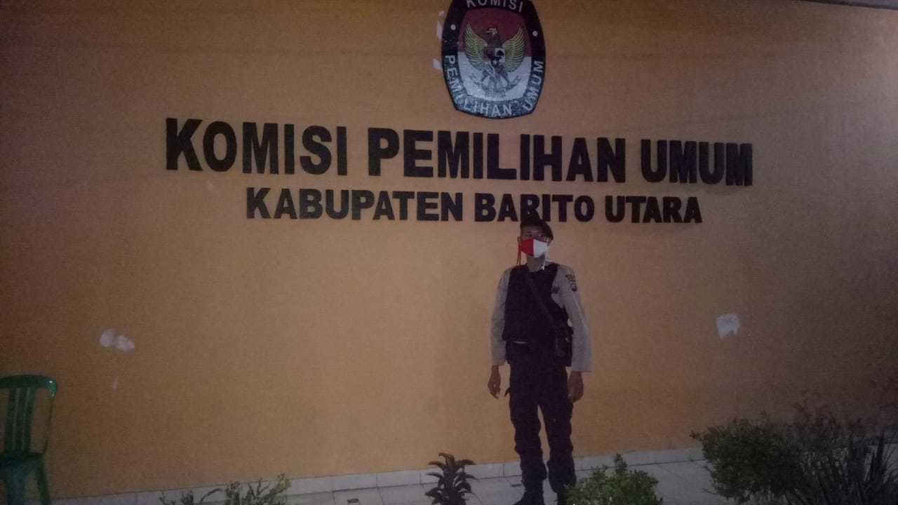 Jelang Pilkada, Patroli Samapta Polres Batara Kunjungi KPU