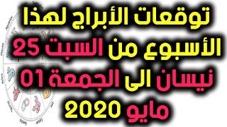 توقعات الأبراج لهذا الأسبوع من السبت 25 نيسان الى الجمعة 01 مايو 2020