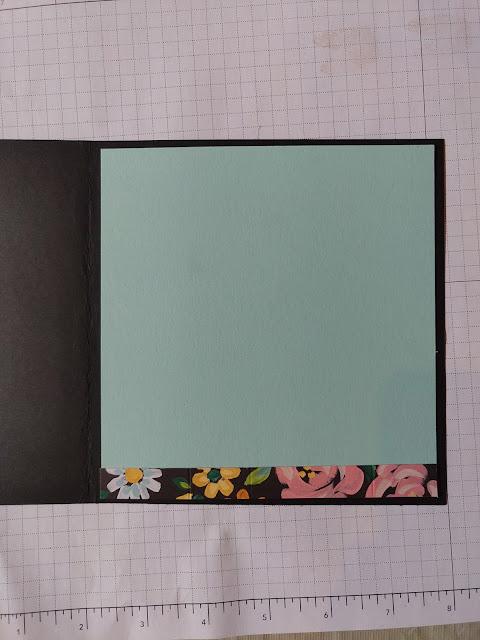 Drapery Fold Card Inside