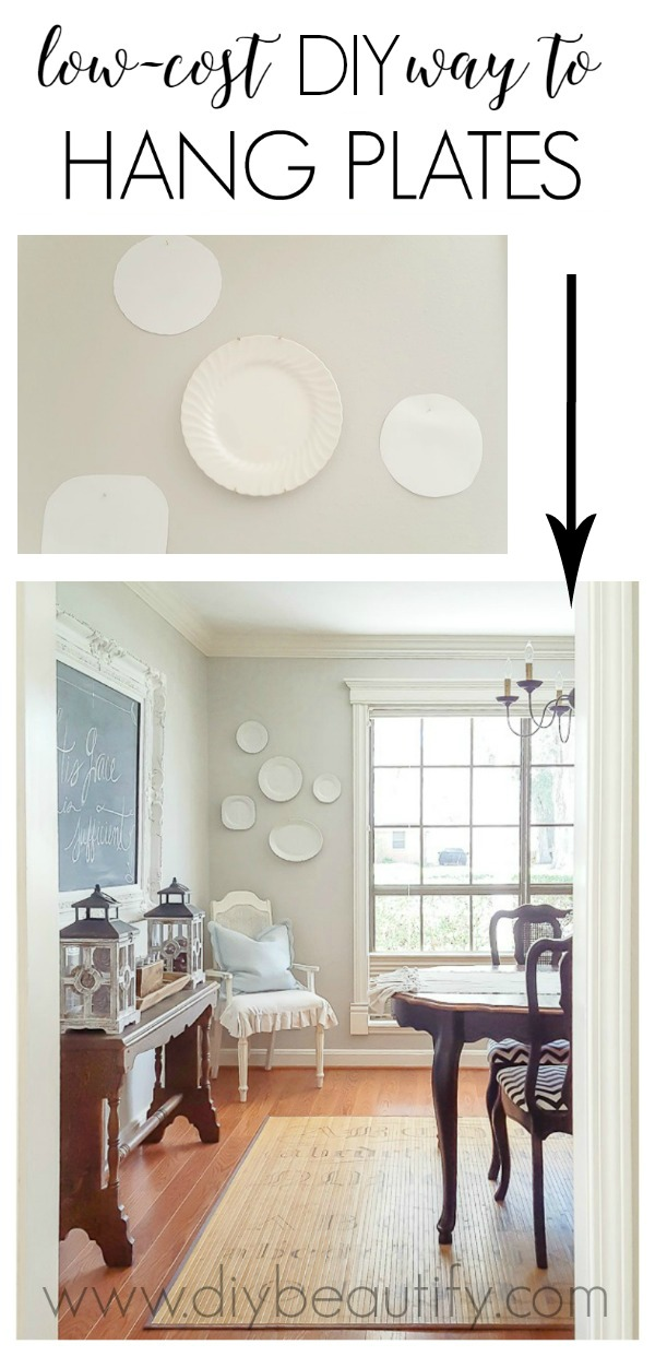 DIY way to hang plates on the wall