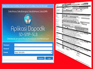 Aplikasi Format Pendaftaran PSB (Penerimaan Siswa Baru) Formulir Dapodik
