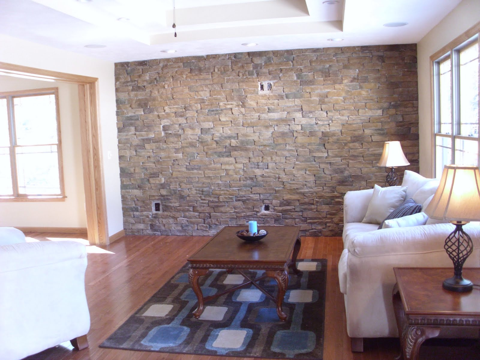 Crystal 39 s cottage open house after the staging - Living room wall ideas ...
