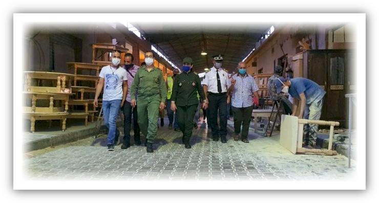 تارودانت : السلطة المحلية بالملحقتين الإدارتين الأولى والثانية تقود المعركة ضد كورونا تحت اشراف باشا المدينة
