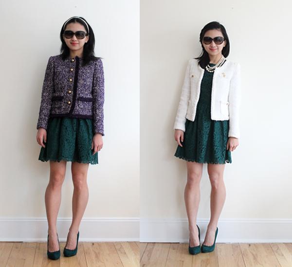 Wear It Five Ways : Green Lace Dress