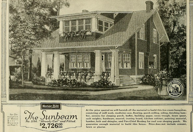 Sears Sunbeam black and white image from 1923 catalog