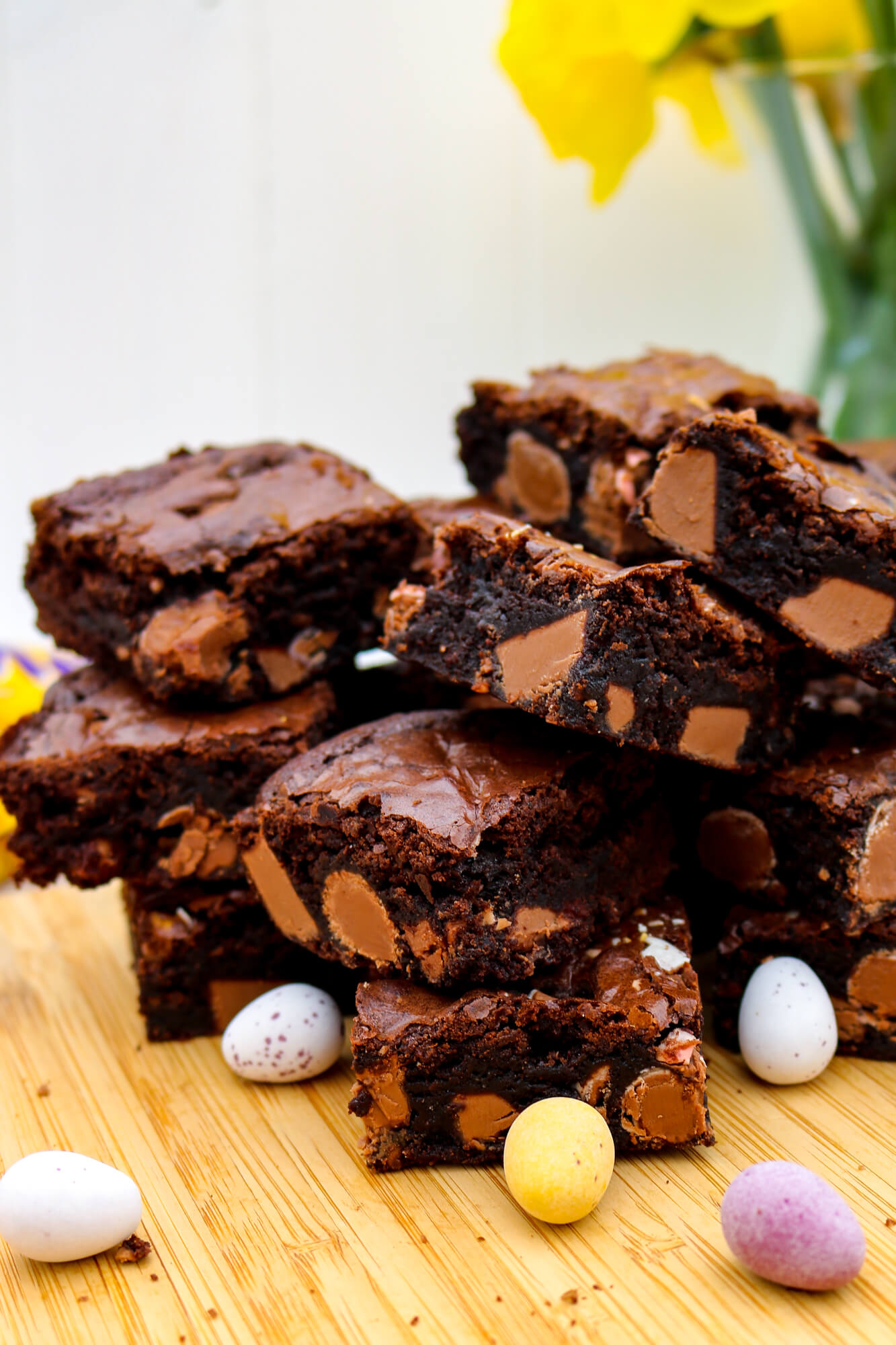 Mini Egg Gluten Free Brownies | Take Some Whisks