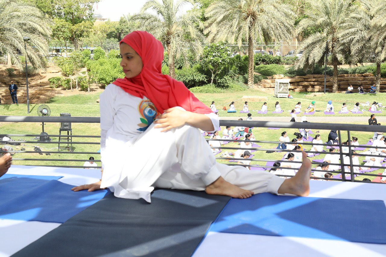 Reem Ibrahim Al-Arfaj is the first certified yoga trainer in Saudi Arabia