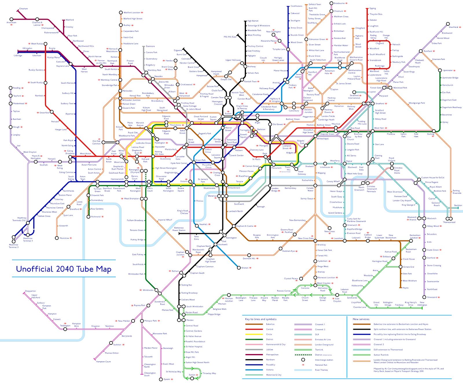 2040 Tube Map