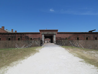 The entrance to Fort Clinch
