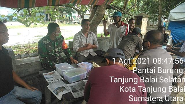 Komunikasi Sosial Dilaksanakan Personel Jajaran Kodim 0208/Asahan Bersama Bhabinkamtibmas Dan Warga Binaan