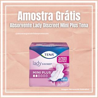 Amostra Grátis Absorvente Lady Discreet Mini Plus Tena