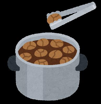 茶葉蛋の鍋のイラスト