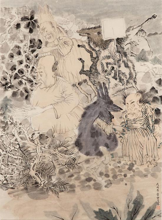 drawing Yun-Fei Ji The Followers, 2017-2018
