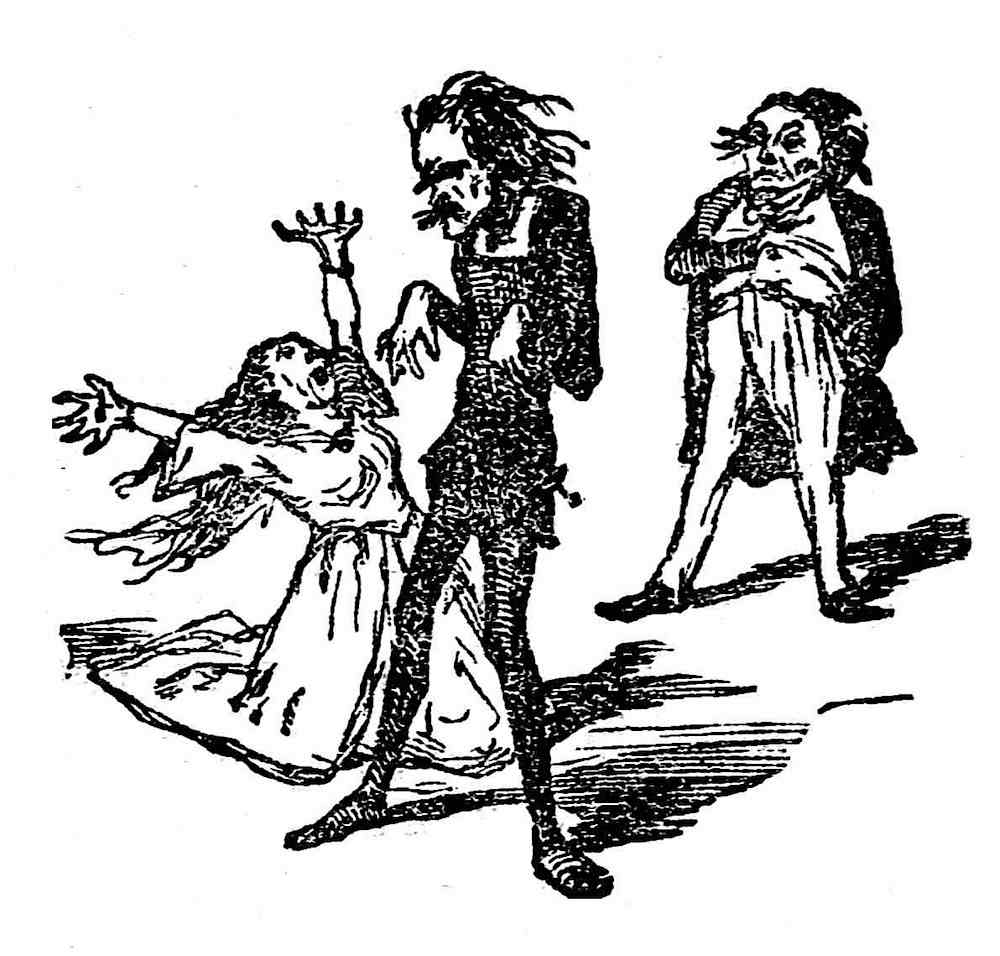 overacting in 1855 theater, a funny cartoon