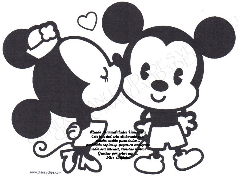 Folder minnie y mickey enamoradooosss - Minnie y mickey bebes para colorear ...