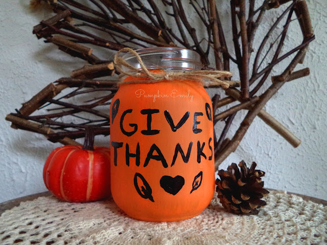 DIY Thanksgiving Jar How to Make a Thanksgiving Jar DIY Centerpiece