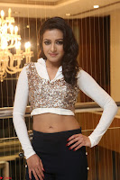Catherine Tresa in a White Glittering Crop Top Black Leggings  Exclusive 008.JPG
