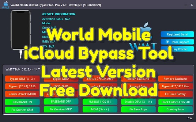 World Mobile iCloud Bypass Tool Pro 2.0 Free Download