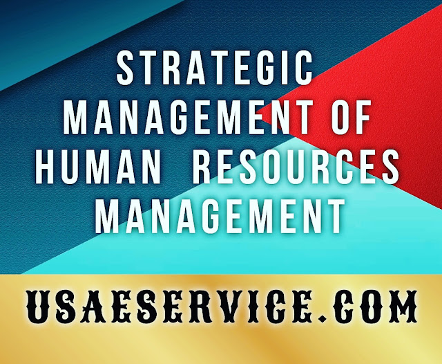 Strategic Management Of Human  Resources HR