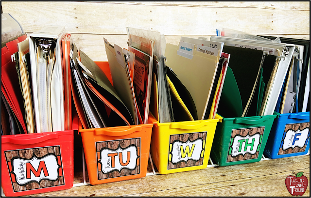 Farmhouse Monday through Friday Teacher Storage Bin Labels