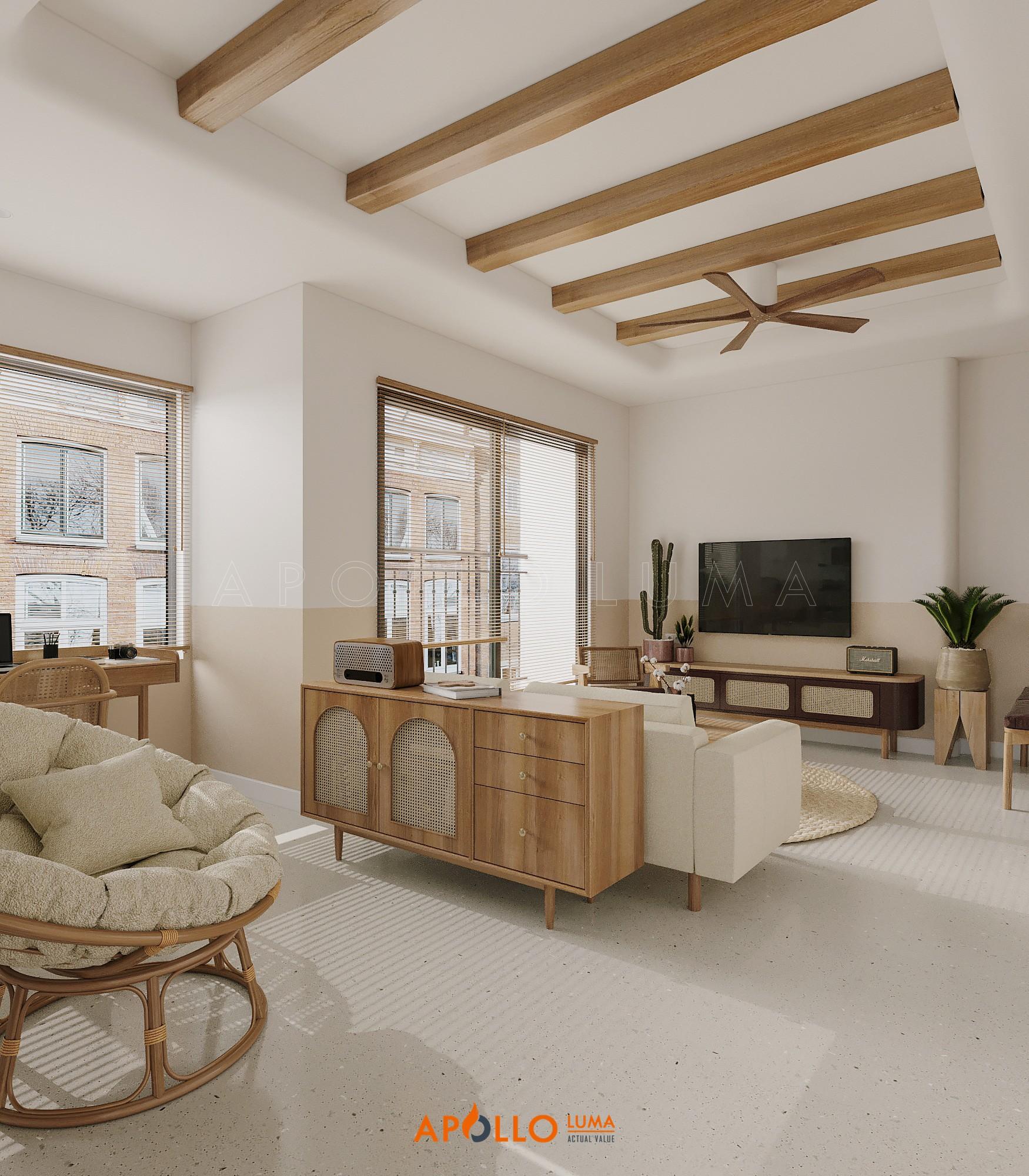Thiết kế nội thất căn 2PN+1 (65m2) S2.03-26 Vinhomes Ocean Park