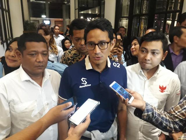 Sindir Jokowi Tak Cuti, Sandi Tegas Mundur dari Wagub dan Kampanye Tak Pakai Fasilitas Negara