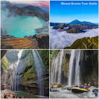 Ijen Crater, Mount Bromo, Waterfall, Rafting tour 5 days