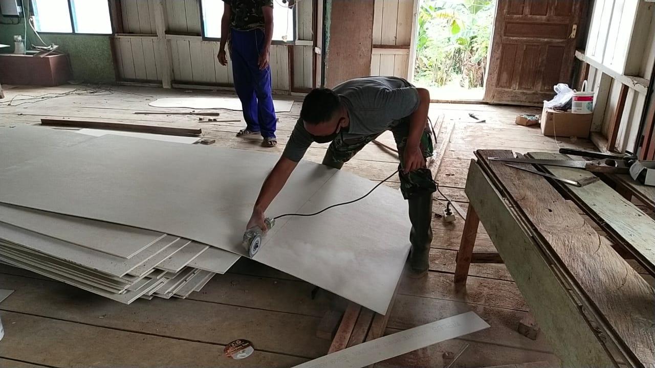 Pemasangan Dinding Mushola
