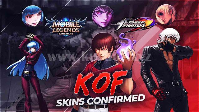 Mobile legends menghadirkan skin terbaru hasil kolaborasi dengan KOF Script Skin KOF Gusion, Dyrroth, Aurora Mobile Legends Gratis