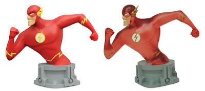 San Diego Comic-Con 2017 Exclusive JLA Animated Series The Flash Resin Busts by Diamond Select Toys - Regular & Translucent Variant Speed Force Editions