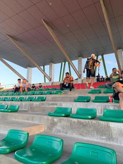 Trợ lý HLV U22 Malaysia đến xem trận đấu của U22 Việt Nam
