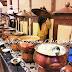 pemanas makanan-sayur | Chafing Dish atau Pemanas makanan Kuningan | tempat prasmanan | kerajinan tembaga dan kuningan
