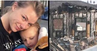 Γενναία μητέρα κλείδωσε τα παιδιά της απ΄έξω για να τα σώσει από την πυρκαγιά. Μετά μπήκε στο φλεγόμενο σπίτι και έκανε το αδιανόητο